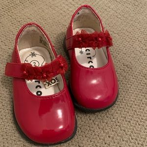 Red Baby Mary Janes